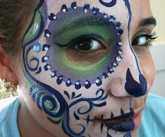 sugar skull face paint design
