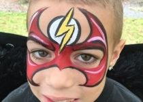 the Flash Face Paint Design