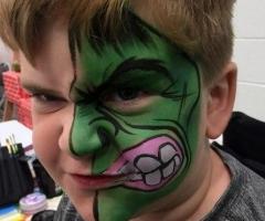 the hulk face paint design