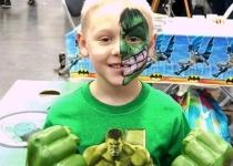 the hulk face painting design