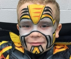 transformers bumblebee face paint