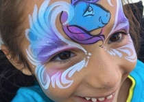 Unicorn Face Paint Deaign