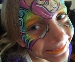 unicorn face painting design