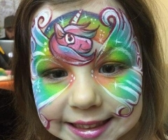 unicorn face painting design