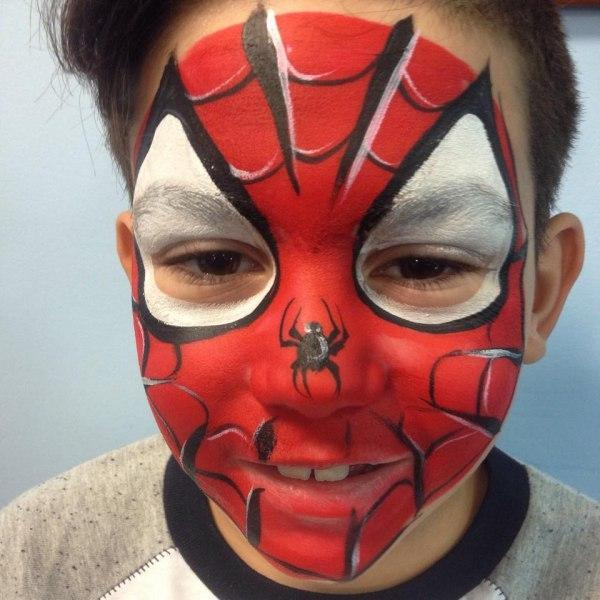 super hero face painting | Orlando Face Painters | Colorful Day Events