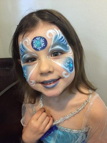 Face painting for girls orlando face painters colorful for Frozen face paint
