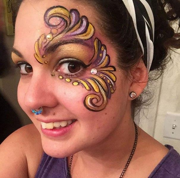 Titties adult professional face painting pictures LOVE