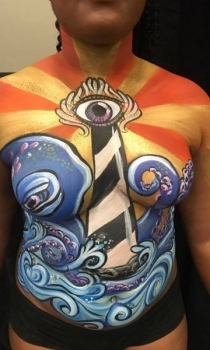 Upper torso / breast cover body paint
