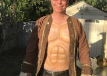 pirate abs body paint