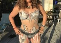 Pirate Body Paint Design