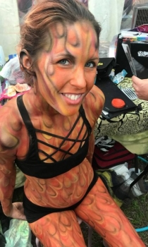Fire Body Paint