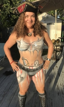 Pirate Body Paint Design