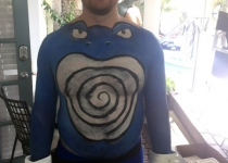 Pokemon Poliwag body paint