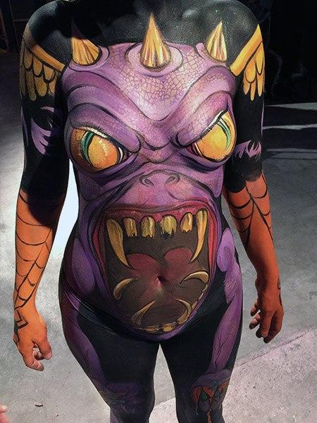 Fantasy Fest Body Painter 2018 Orlando Face Painting