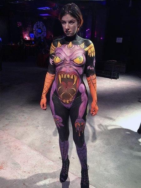 Fantasy Fest Body Painter 2018 Orlando Face Painting