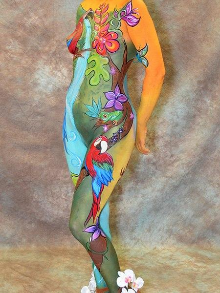 Body Paint Hawaii >> Fantasy Fest Body Painter 2018 | Orlando Face Painting | Colorful Day Events