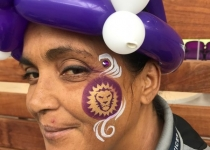 Orlando City Lions Face Paint Design