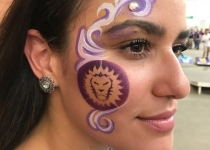 Orlando City Lions Face Paint