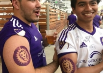 Orlando City Lions Temporary Tattoo