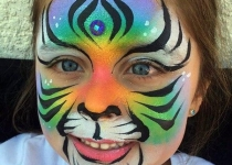 Tiger Face Paint Deaign