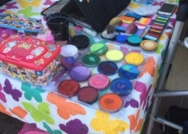 Face Painter's Set Up