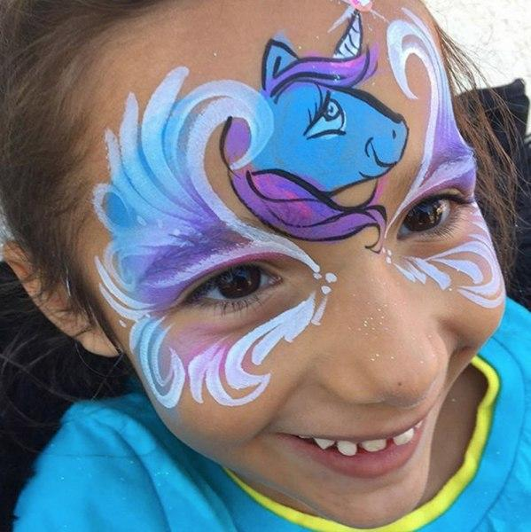 Unicorn Themed Birthday Party Orlando Face Painting
