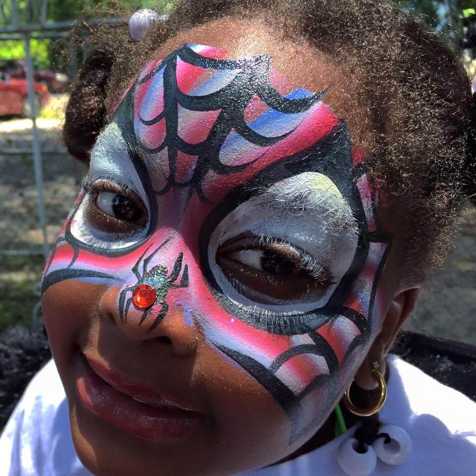 Spiderman Face Paint Designs