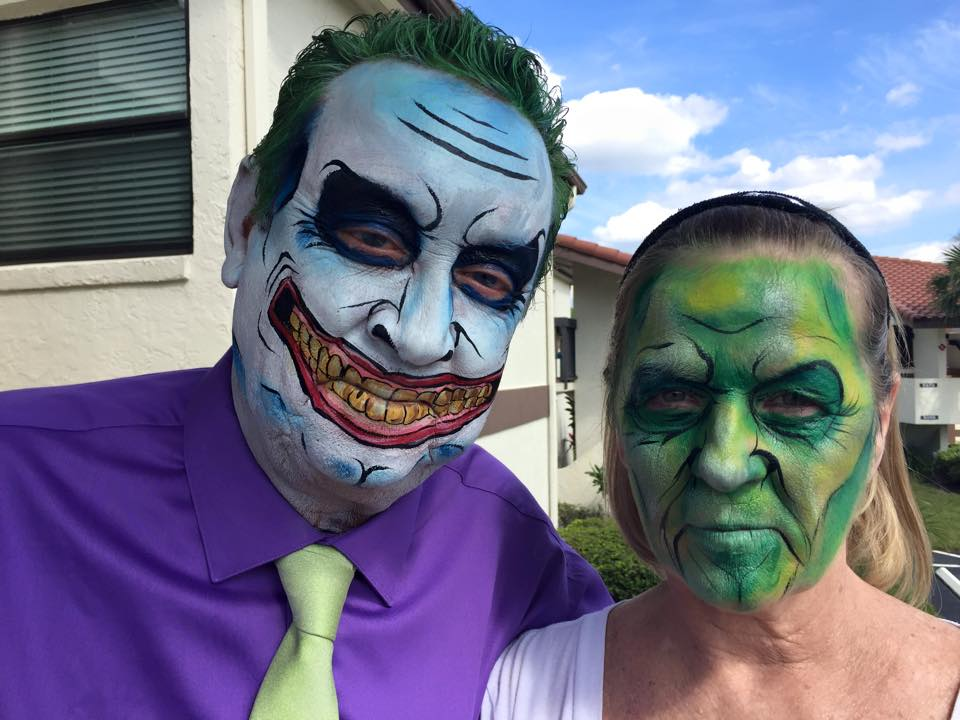 The Joker halloween face painting