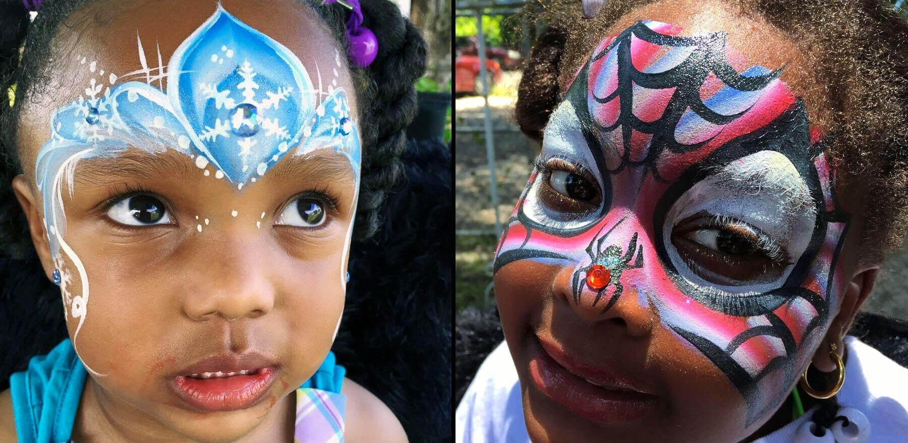 Cute Girl Face Painting in Florida