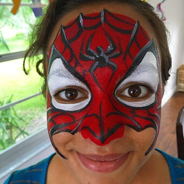 spider woman face paint