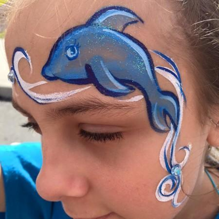 Dolphin Face painter key lime pie festival port canaveral 2016-1