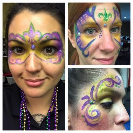 Mardi Gras face painting designs orlando florida
