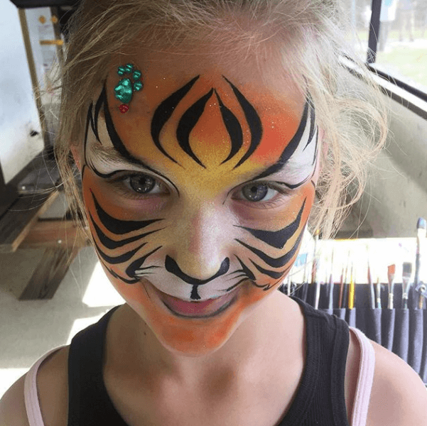 Tiget Face Painting design Orlando Florida