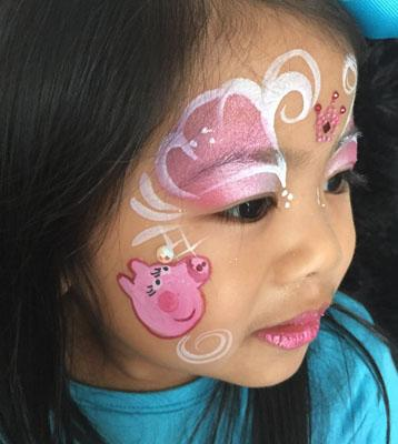 peppa pig face painting design