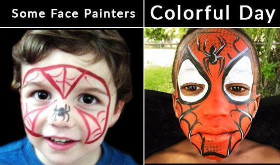 good vs bad face painter