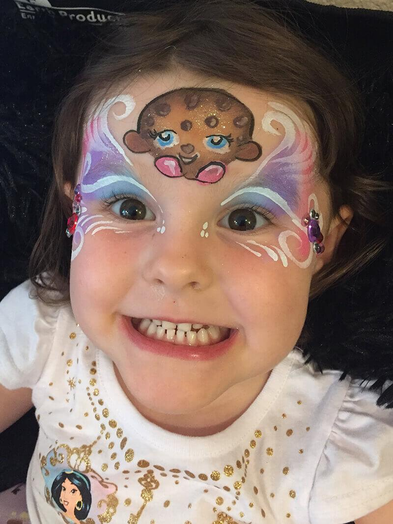 cookie cookie shopkins face paint design