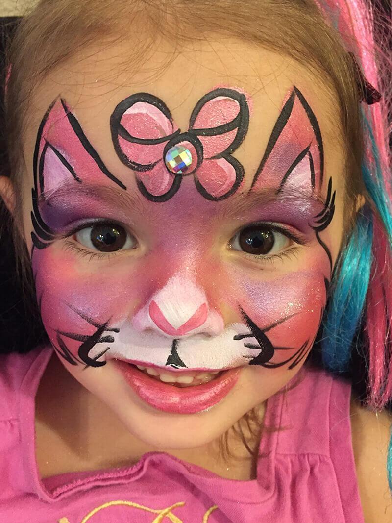 kitty cat face paint design