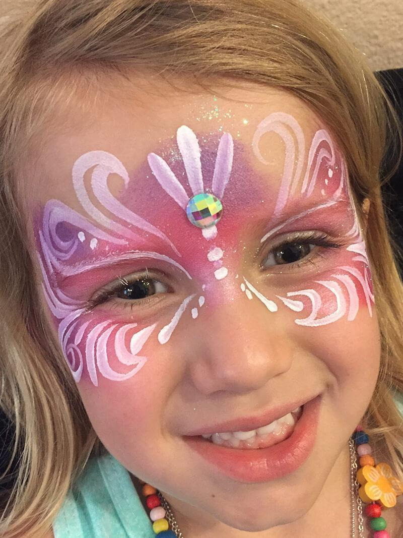 princess mask face paint design