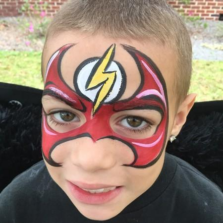 Flash Face Paint Design