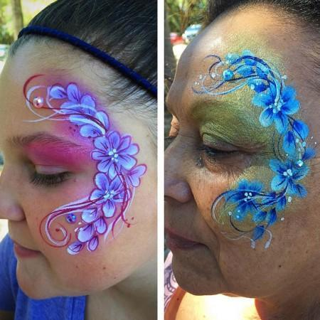 Flower Face Painting Design