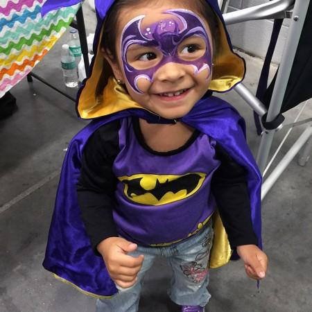 Batgirl Face Paint design