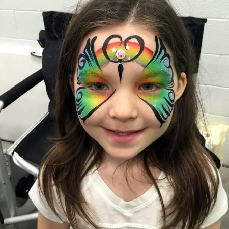 Rainbow Butterfly Face Painting Deisng