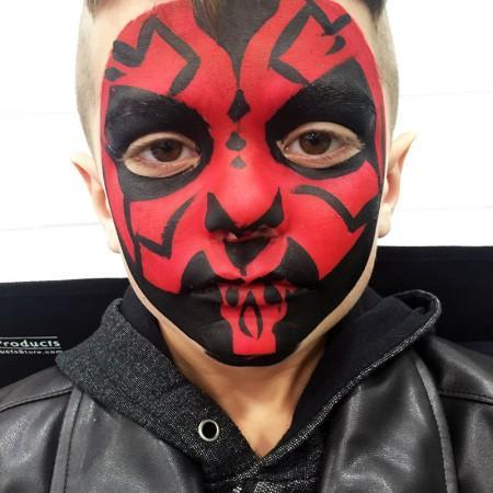 Darth Maul Face Pait Design
