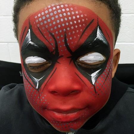 deadpool face paint