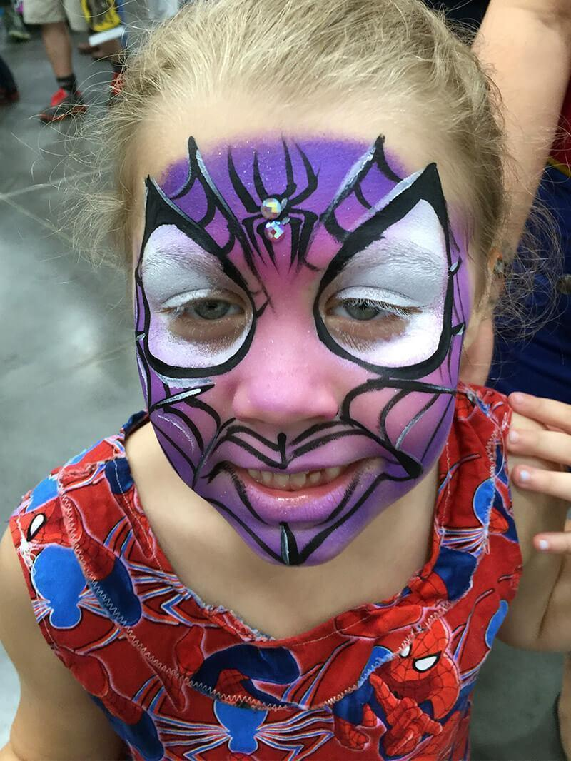 Spider Girl Face Paint Design