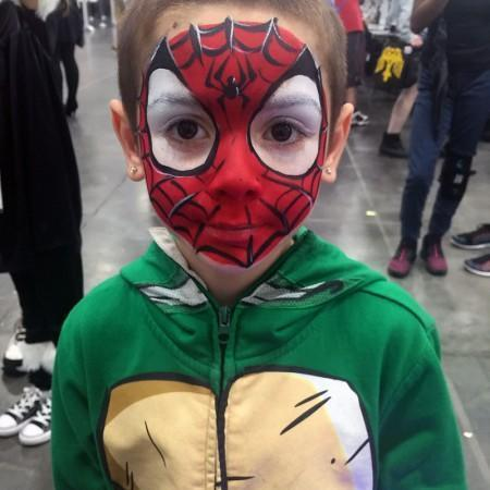 spiderman-face-painting-design