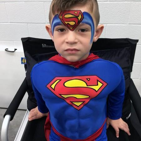 Superman Face paint design