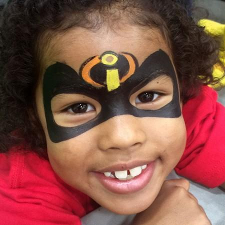 the incredibles face paint design