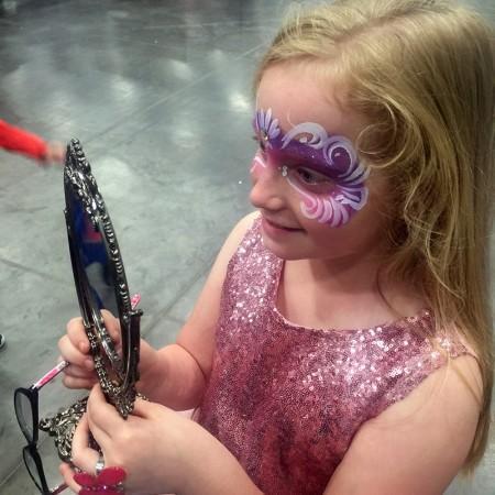 Princess Mask Face Paint Design