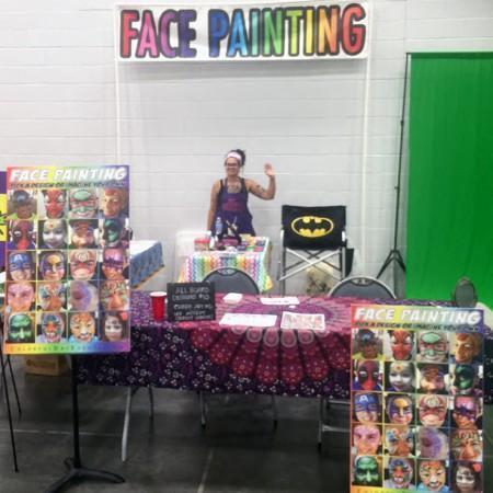 Booth Set up for Comicon